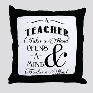 Teachers open minds Throw Pillow